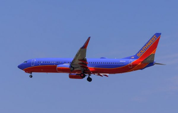 Southwest Airline Plane in the sky