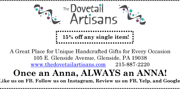 Dovetail Artisans 15% off coupon