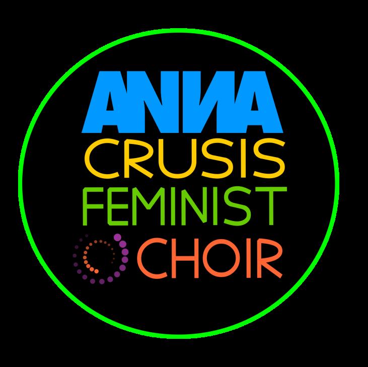ANNA Crusis Feminist Choir in bright colors