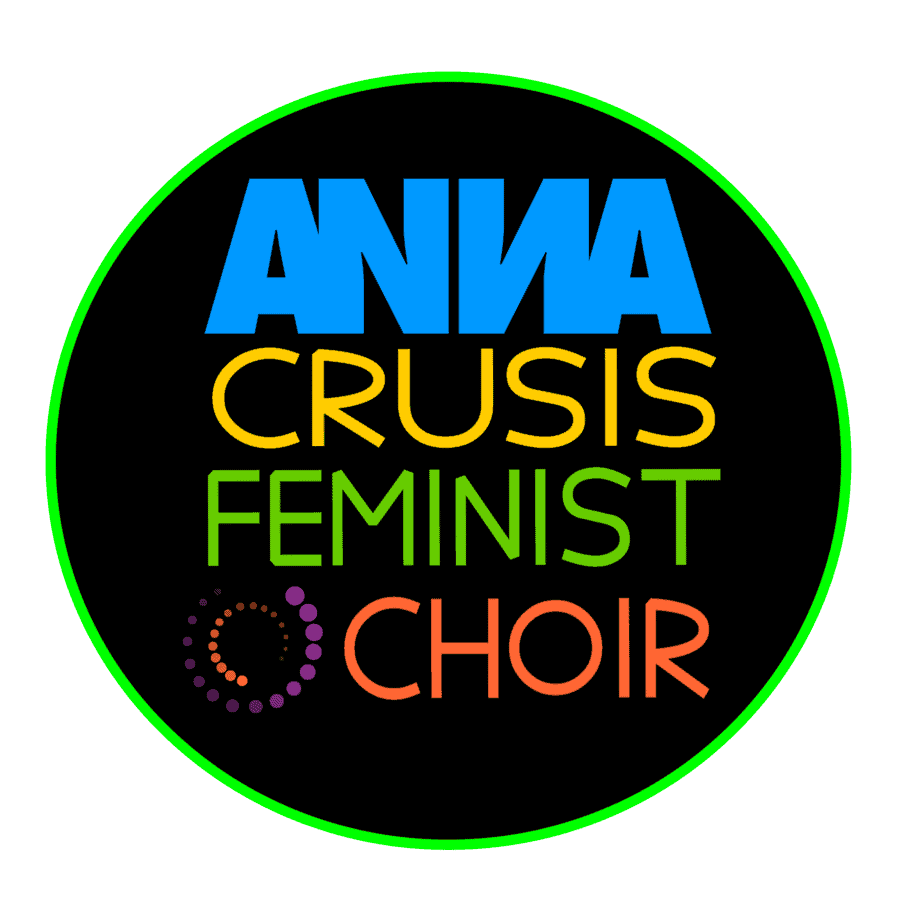 ANNA Crusis Feminist Choir in bright colors